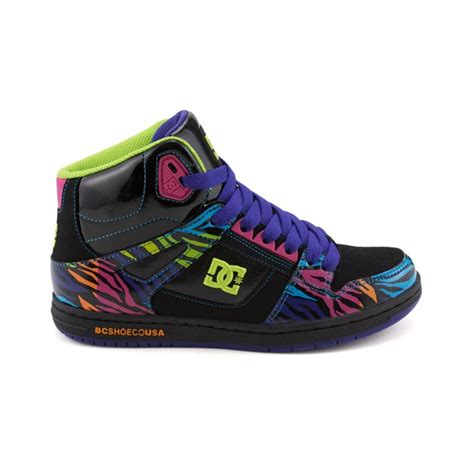 womens dc skate shoes womens dc rebound hi skate shoe from journeys