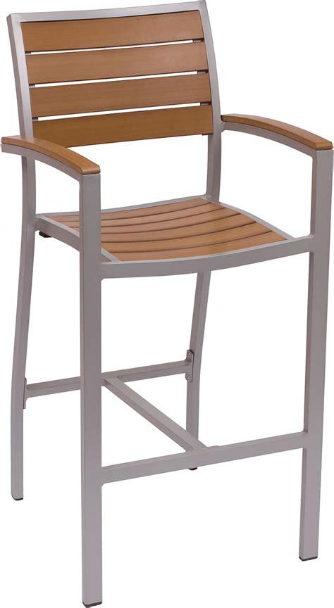 Largo Furniture Bar Stools by Largo Synthetic Teak Arm Bar Stool Fph101btk Commercial