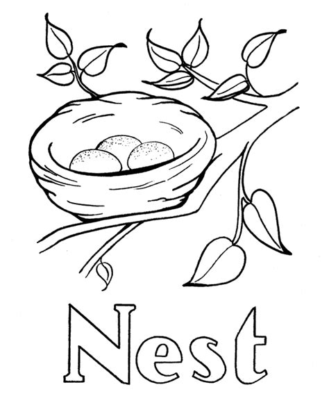n color nest coloring page coloring home