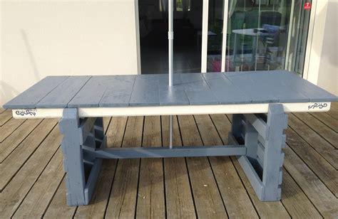 tables de jardin rondes tuto cr 233 ation d une table de jardin table d exterieur avec palette et r 233 cup