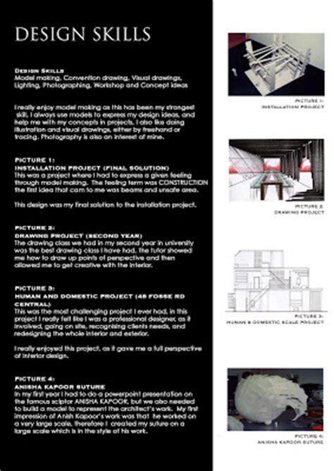 interior design curriculum interior design curriculum vitae