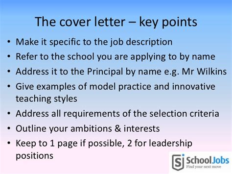 application letter addressing the selection criteria writing a great cover letter