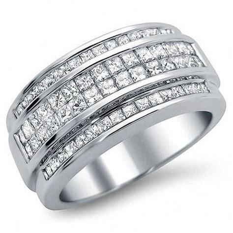 mens white gold diamond wedding rings wedding  bridal