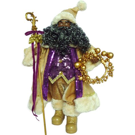 holiday sparkle 18 in african american santa decor