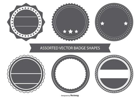 Blank Vintage Badge Shapes Download Free Vector Art Stock Graphics Images Circle Logo Template Photoshop