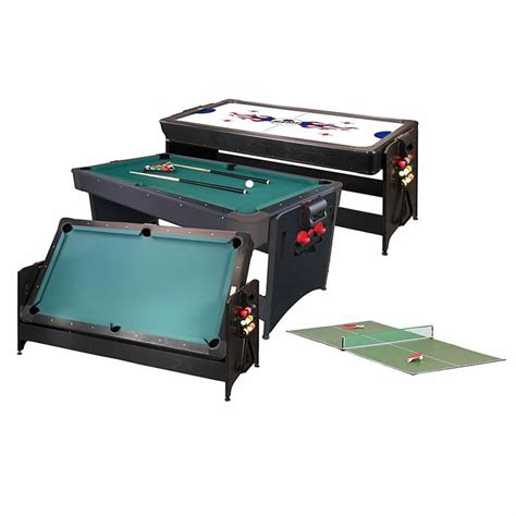 Pool Table Ping Pong Combo by Cat Pockey 3n1 Combination Air Hockey Pool Table