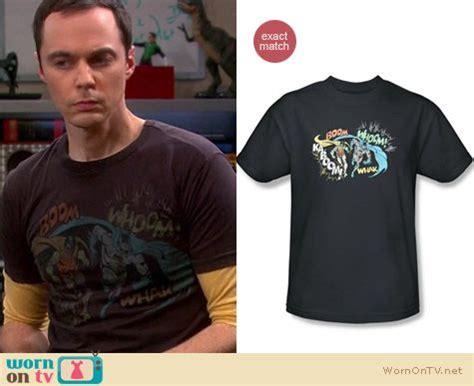 Sheldon Cooper Wardrobe by Wornontv Sheldon S Black Batman Robin Shirt On The Big