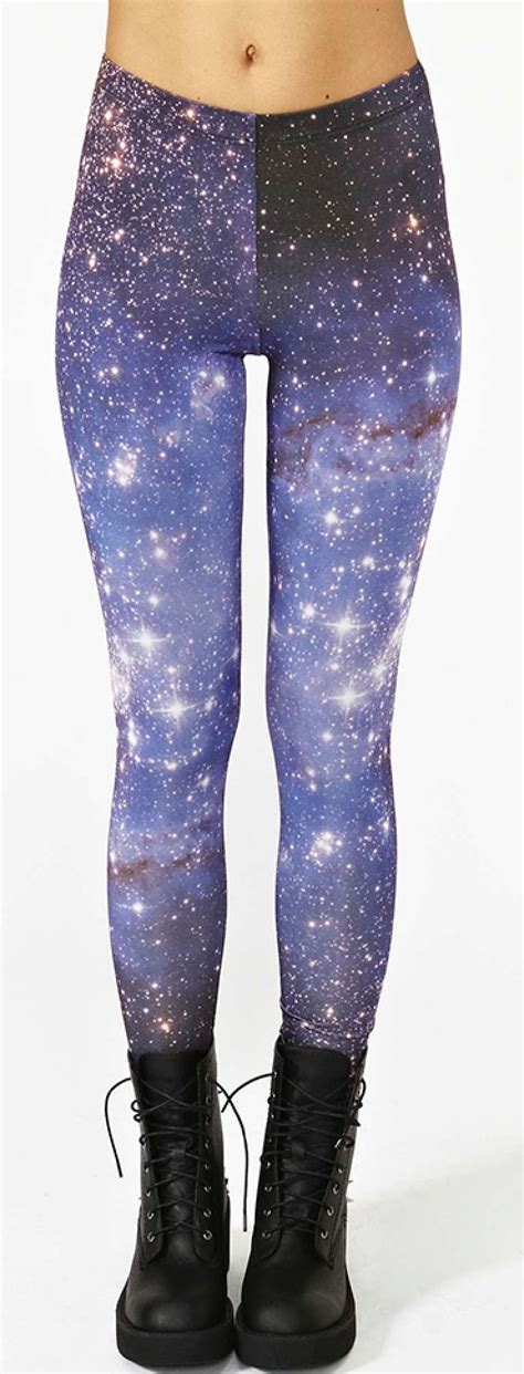 pattern leggings of the night sky sky blue galaxy print leggings l7856