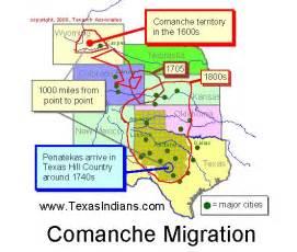 map of comanche the comanche american project