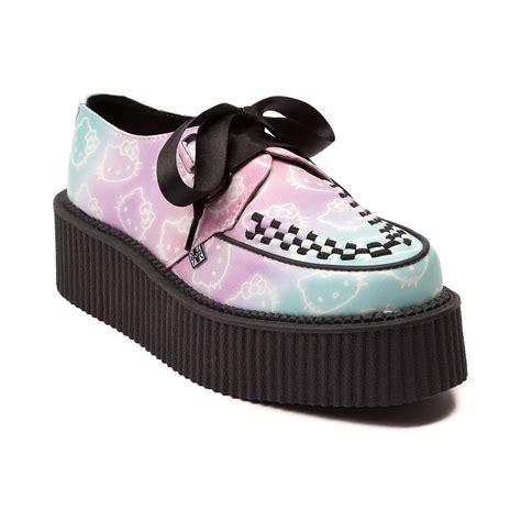 womens t u k hello creeper mondo sole shoe pink