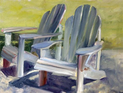 Ideas For Painting Adirondack Chairs by Plein Air Paintings By Shelley Grund