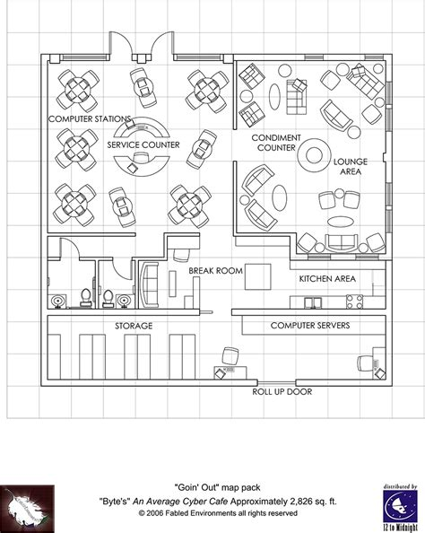 internet cafe floor plan modern floorplans cyber cafe fabled environments