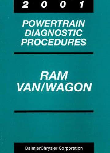 2001 dodge ram van and wagon shop manual b1500 b2500 b3500 repair full size rwd ebay dodge ram van and wagon powertrain diagnostic procedures manual 2001 used