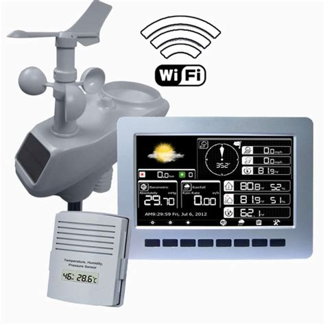 wireless weather station with wi fi and tft colour display