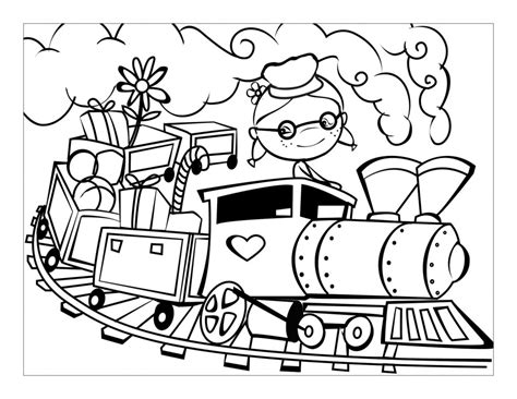 free trains to color and print coloring pages