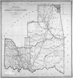 indian territory map five civilized tribes cowboy tours of oklahoma