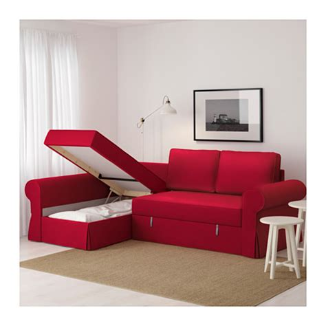 red ikea sofa backabro sofa bed with chaise longue nordvalla red ikea