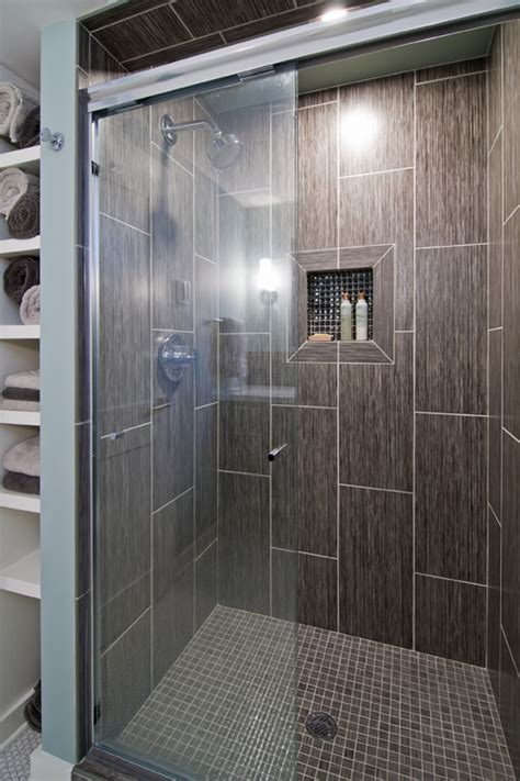vertical tile bathroom 2 tone tiling design help