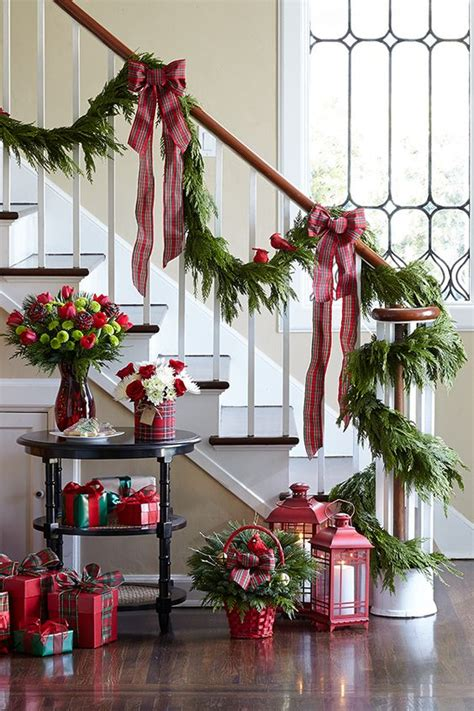 christmas banister decoration 40 gorgeous christmas banister decorating ideas