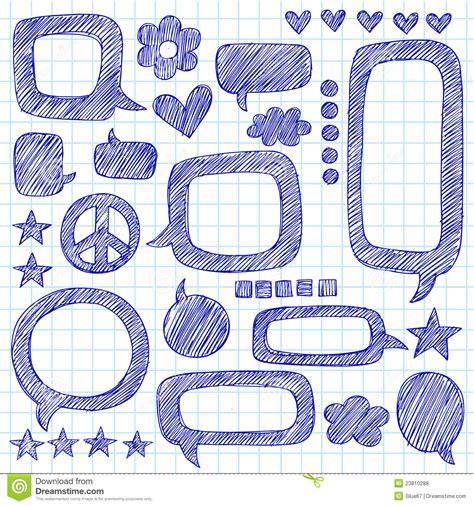 doodle speech free vector speech bubbles sketchy notebook doodles vector royalty