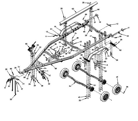 boat trailer axle assembly diagram karavan16 tandem axle trailers
