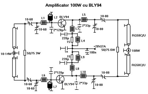 rf transistor lifier design and matching networks bly94 100w rf power lifier