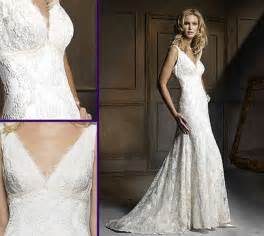 Vintage country lace wedding dress