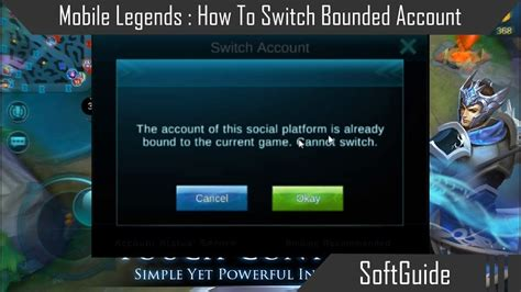 change mobile legend mobile legends how to switch bounded account