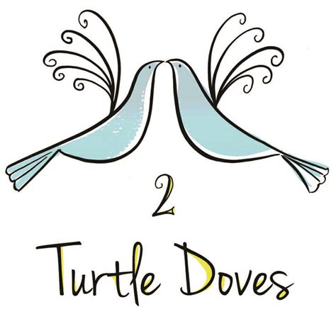 turtle dove template 67 best 12 days of 2 turtle doves images on