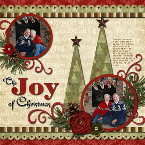 scrapbook layout christmas two christmas trees scrapbook pages pinterest