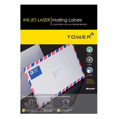 laser inkjet labels templates a4 printable products accessories archives tower products