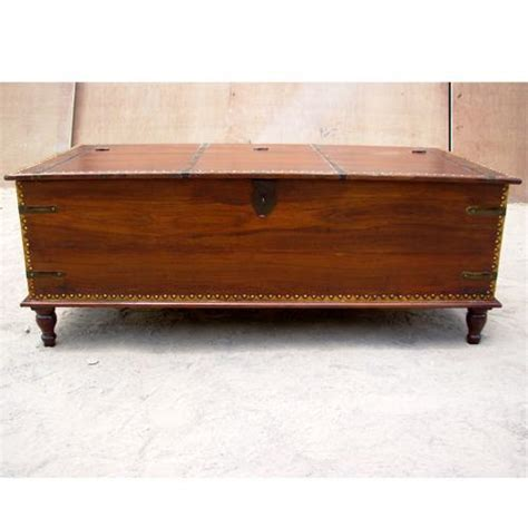 solid wood rustic storage box chest cocktail lift top