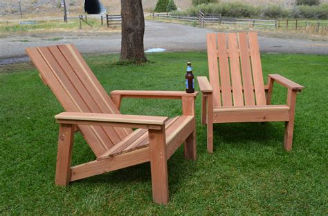 build redwood adirondack chairs