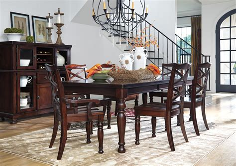 porter dining room set porter complete dining set by ashley furniture moore