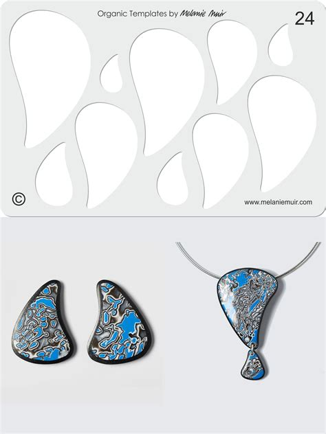 Organic Template No 24 With Blue Raindrop Earrings And Blue Raindrop Pendant Http Www Pin Design Template