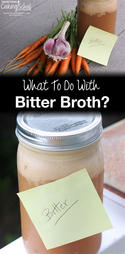 Do You Bold And Pungent Foods by What To Do With Bitter Broth