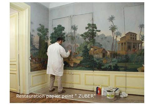 Papier Peint Panoramique Zuber 4284 by Restauration Zuber Photo De Toiles Peintes Peinture