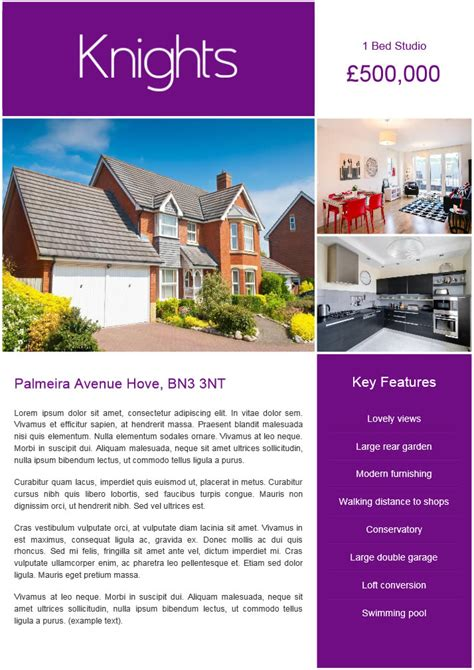 free window card templates estate agents pdf property brochures domus estate and letting