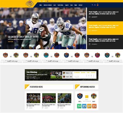 Football League Website Template Images Template Design Ideas League Website Template