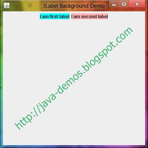 java swing jlabel set background color in jlabel swing