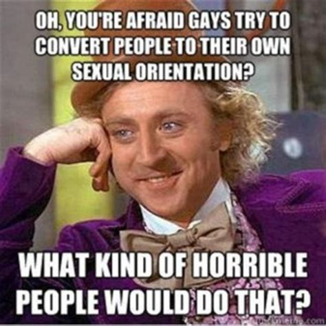 Funny Gay Meme - willy wonka meme gay people dump a day