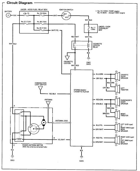 92 honda civic radio wiring diagram civic free printable