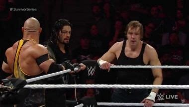 wwe wrestling news sports entertainment movie infos and download wwe raw review team reigns vs team rollins battle in