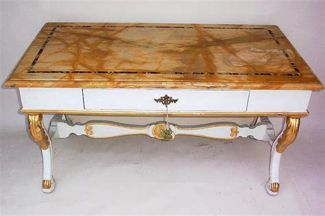 ori furniture cost early 19th century italian inlaid marble top desk for sale