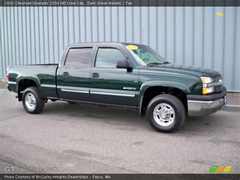2003 chevrolet silverado 1500 hd crew cab in green