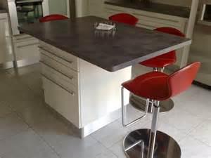 table ilot de cuisine id 233 es de d 233 coration et de mobilier