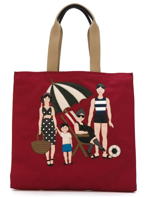 Dg Dolce Gabbana Oversized Nautical Tote by Lyst Dolce Gabbana Family Appliqu 233 Shopper Tote In