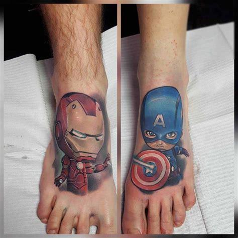 marvel tattoos on feet best tattoo ideas gallery