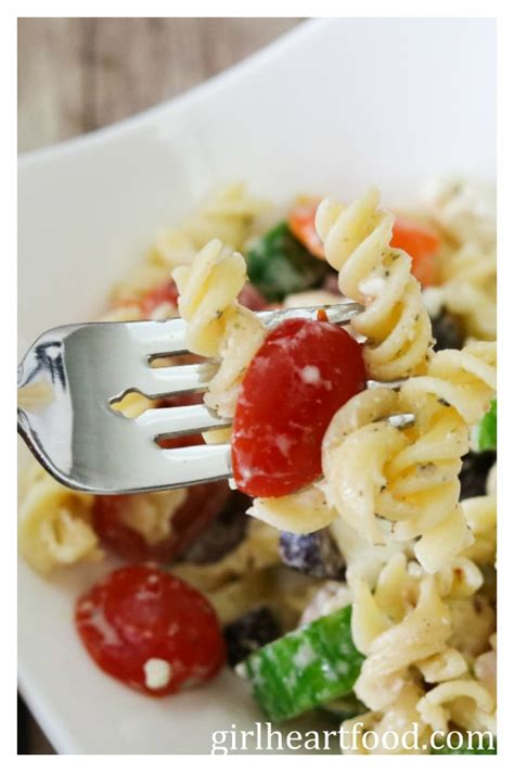 www garlicrecipes ca greek garlic dill dressing pasta greek pasta salad gluten free vegetarian
