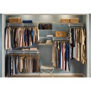 Shelftrack Wardrobe Kit Closetmaid 881000 Shelftrack 7 Ft To 10 Ft Wide Closet
